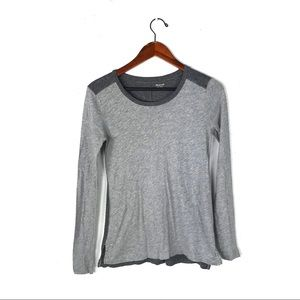 Madewell whisper cotton long sleeve top gray xxs